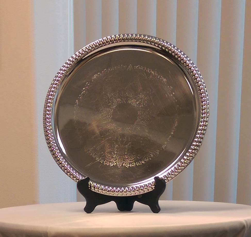 Silver Round Tray (14 inch)