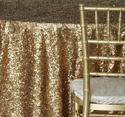 "Taffeta Sequins 90"" x 90"" Square - ONLY"