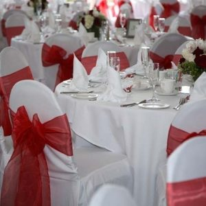 Polyester Chair Cover WITH Sash