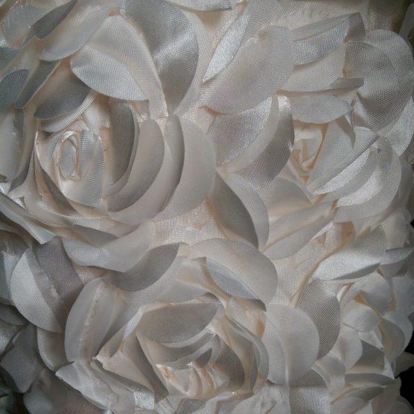 Rosette Overlay 90in Square Off White