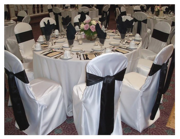 Captivating Satin Chair Cover WITH Sash