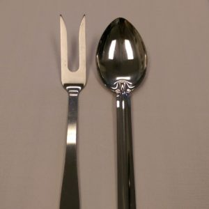 Stainless Steel Serving Spoon & Fork