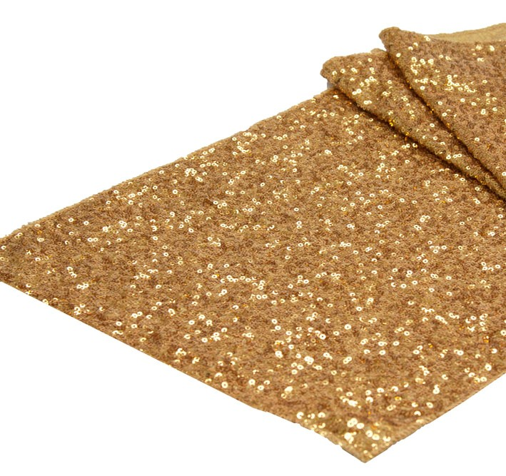 "Taffeta Sequins Table-Runner 12"" x 120"""