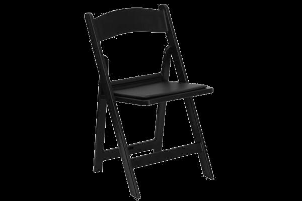 Black-color resin wedding folding chair