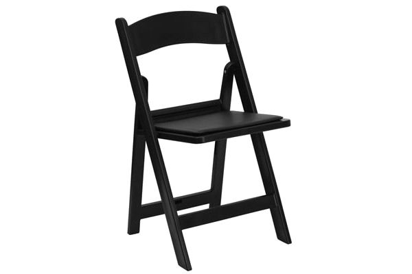 Black-color resin wedding folding chair