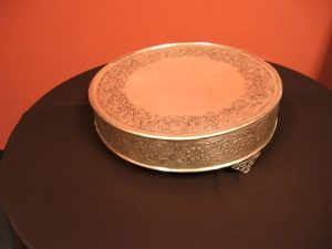 Cake Stand - 17 inch silver