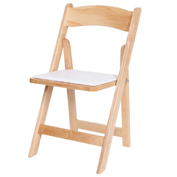 Natural-wood-color Wood Folding Chair New