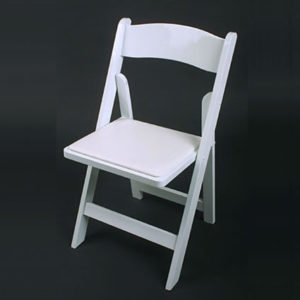 White-color ResinWedding Folding Chair
