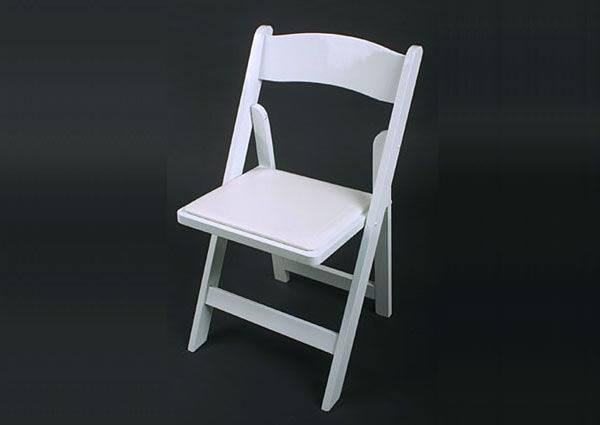 White-color ResinWedding Folding Chair